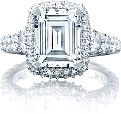 tacori royalt emerald cut engagement ring w bloom