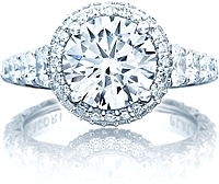 Tacori RoyalT Graduated Prong Set Diamond Engagement Ring w/ Bloom