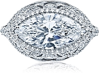 Tacori RoyalT Marquise Halo Diamond Engagement Ring