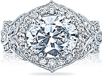 Tacori RoyalT Oval Halo Diamond Engagement Ring