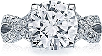 Tacori RoyalT Platinum Twist Diamond Engagement Ring