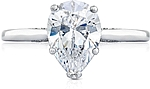This image shows the setting with a 1.50ct pear cut center diamond. The setting can be ordered to accommodate any shape/size diamond listed in the setting details section below.