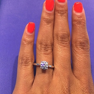 Tacori Solitaire Engagement Ring w/ Pave Diamond Accents 2638