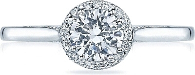 tacori solitare diamond engagement rings with pave halo