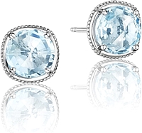 Tacori Sterling Silver Blue Topaz Earrings