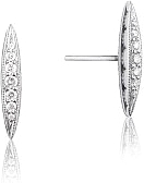 Tacori Sterling Silver Diamond Marquise Studs