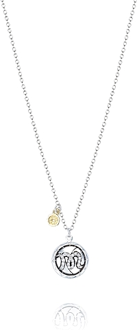 Tacori Sterling Silver Diamond Monogram Pendant