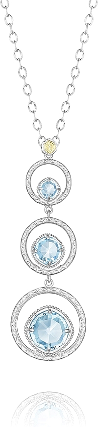 Tacori Sterling Silver London Blue Topaz Necklace
