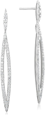 Tacori Sterling Silver Marquise Drop Earrings