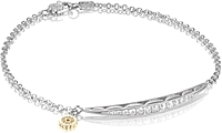 Tacori Sterling Silver Tendril Diamond Bracelet