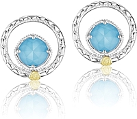 Tacori Sterling Silver Turquoise Earrings