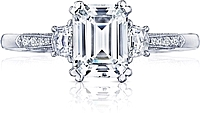 Tacori Three Stone Diamond Engagement Ring