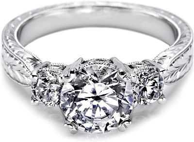 This Image Shows The Setting With A 1 00ct Round Brilliant Cut Center Diamond
