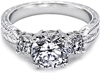 Tacori Three Stone Engagement Ring