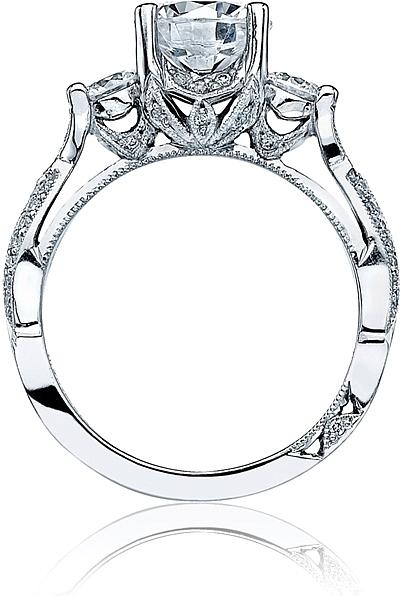 Tacori Three Stone RibbonTwist Diamond Engagement Ring 2637RD