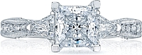 Tacori Trillion and Pave Diamond Engagement Ring