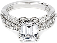 Tacori Triple Row Diamond Engagement Ring