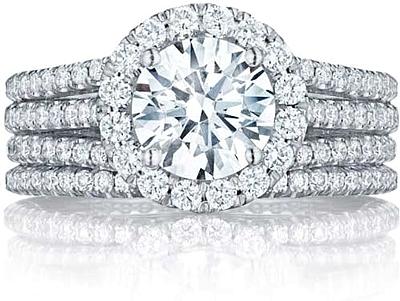 Tacori Triple Row Diamond Engagement Ring HT2551RD