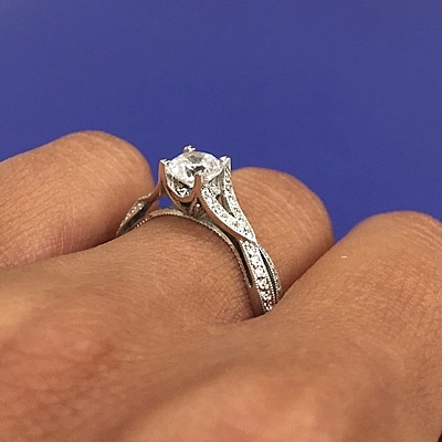 tacori twist pave engagement ring 2565rd