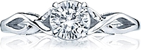 Tacori Twist Shank Diamond Engagement Ring