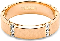 Tacori Wedding Band With In Rose Gold With Channel-Set Diamond Accents -6.0mm
