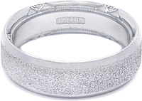 Tacori Wedding Band With Pebble Finish and Pave Diamonds -7.0mm