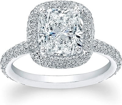 thin micro pave halo engagement ring ad4600