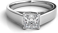 Trellis Princess Cut Solitaire Engagement Ring
