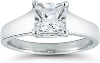 Trellis Solitaire Diamond Engagement Ring