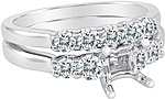 This image shows the setting with a basket made for 1.00ct princess cut diamond. The setting can be ordered to accommodate any size/shape diamond listed on the setting details section below. The matching wedding band is sold separately.