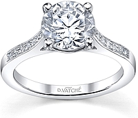 Vatche  Channel Set Diamond Engagement Ring