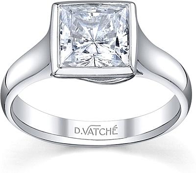 Vatche Bezel Solitaire Diamond Engagement Ring 184
