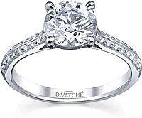 Vatche Caroline Pave Diamond Engagement Ring