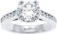 Vatche Channel-set Double U Prong .46ct Engagement Ring