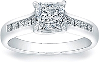 Vatche Channel-Set Princess Cut X Prong Diamond Engagement Ring