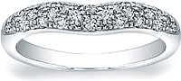 Vatche Pave Diamond Contoured Wedding Band