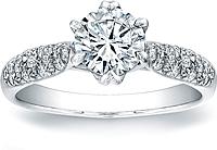 Vatche Pave-set Royal Crown Setting .20ct tw
