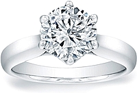 Vatche Royal Crown Solitaire Engagement Ring