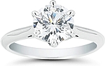 This image shows the setting with a 1.25ct round brilliant cut center diamond. The setting can be ordered to accommodate any shape/size diamond listed in the setting details section below.