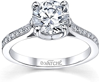 Vatche U-Prong Setting Diamond Engagement Ring