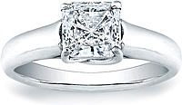 Vatche X Prong Princess Cut Solitaire Engagement Ring