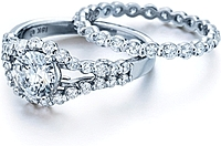 Verragio Bar Set Round Diamond Engagement Ring