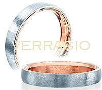 Verragio Brush Finish Men's Wedding Band