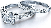 Verragio Detailed Round Diamond Engagement Ring