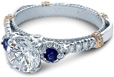 Verragio Diamond And Sapphire Engagement Ring CL DL128