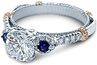 Verragio Diamond and Sapphire Engagement Ring