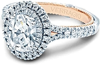 Verragio Double Halo Diamond Engagement Ring