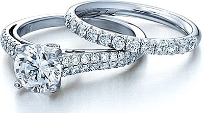 this image shows the setting with a 125ct round brilliant cut center diamond the - Fancy Wedding Rings
