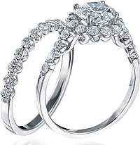 Verragio Engagement Ring with Diamond Halo
