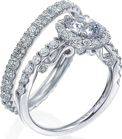 Verragio Halo Engagement Ring with Round Brilliant Diamonds INS7003